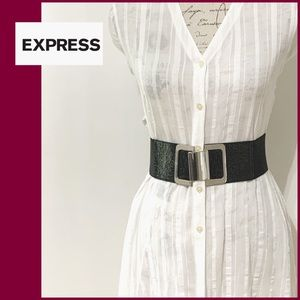 NWOT Express Wide black Belt